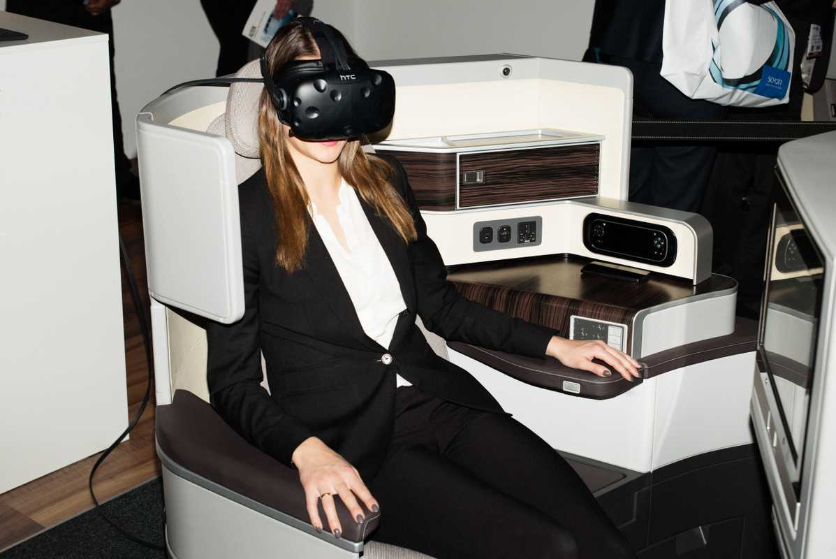 Getting immersed in the cabin experience with the help of virtual reality