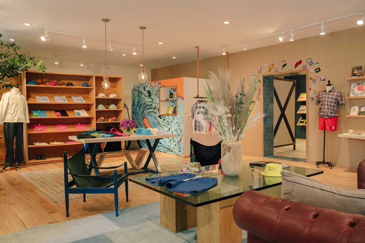 Main room in the Manhattan shop