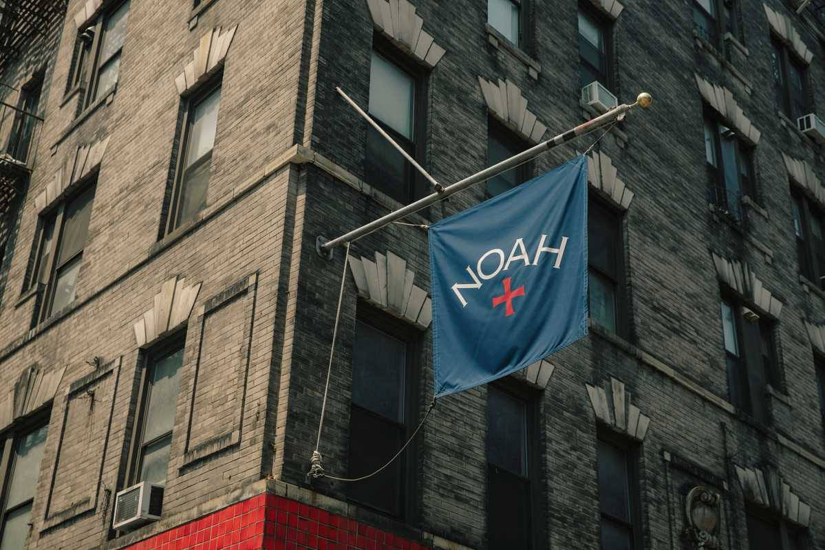 Banner outside Noah's corner location