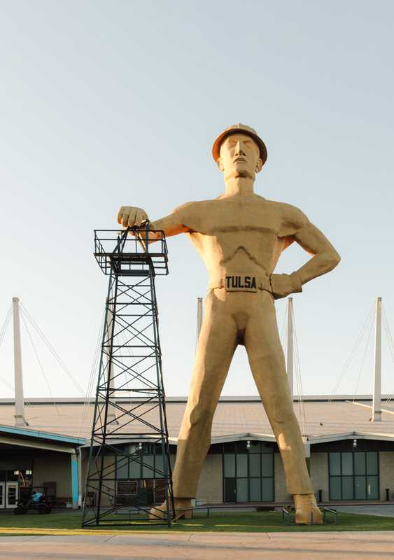 Iconic Golden Driller statue