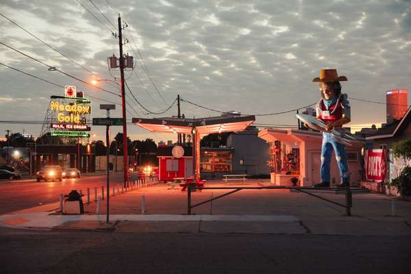 Buck Atom Space Cowboy on Route 66