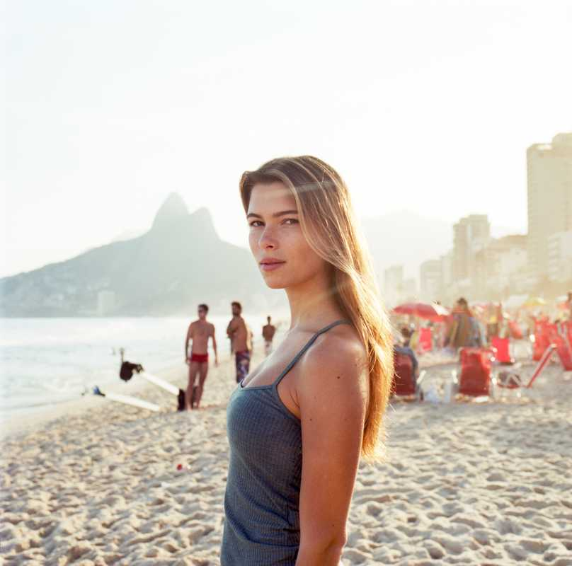 Adriane Lima, student, on Ipanema beach