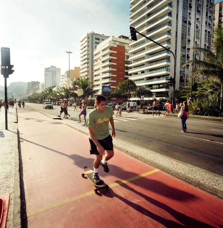 Skater on Ipanema