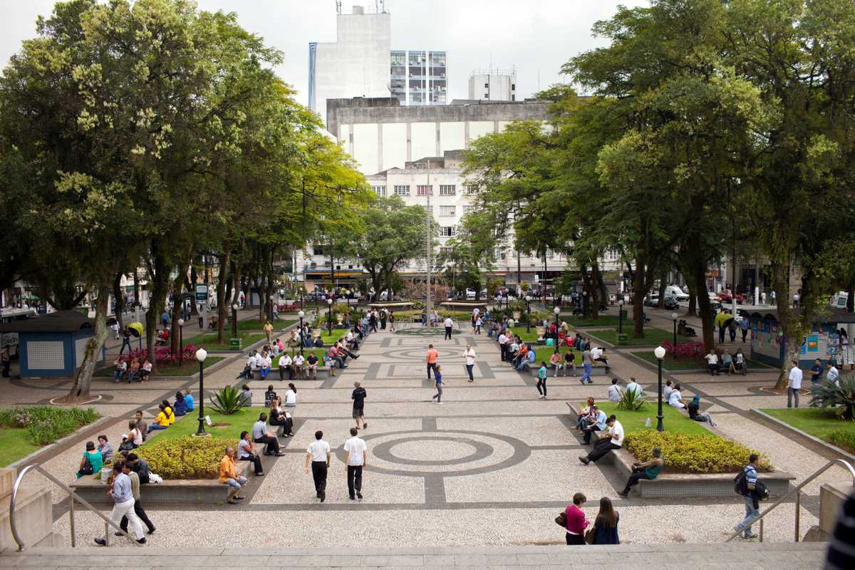 Mauá Square in front of City Hall