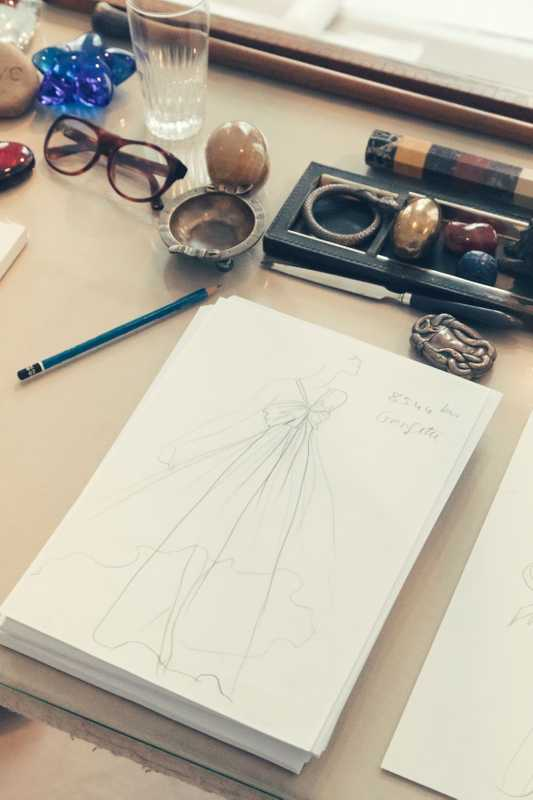 Yves Saint Laurent's sketches