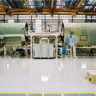 Airbus A320 on the assembly line
