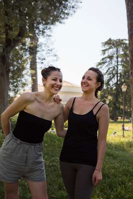 Merry models in Villa Torlonia park