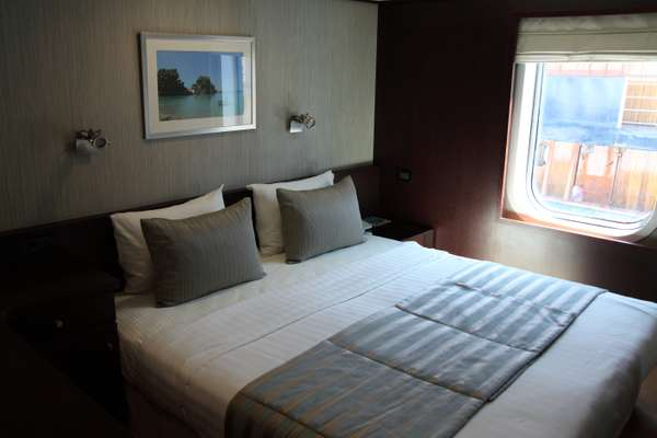 Bedroom on one of the smaller ships