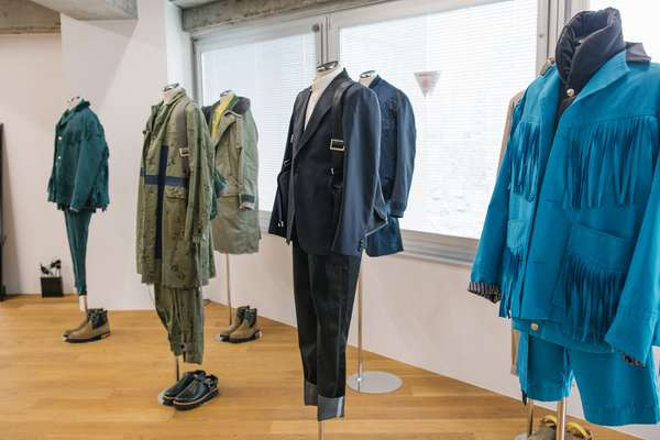 Spring/summer 2018 menswear preview in the Sacai press room