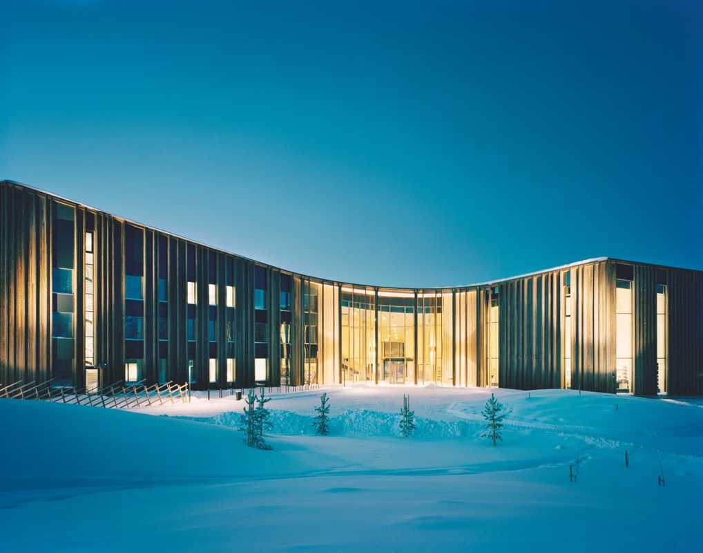 Exterior of the Finnish Sámi parliament, by Helsinki architects Halo