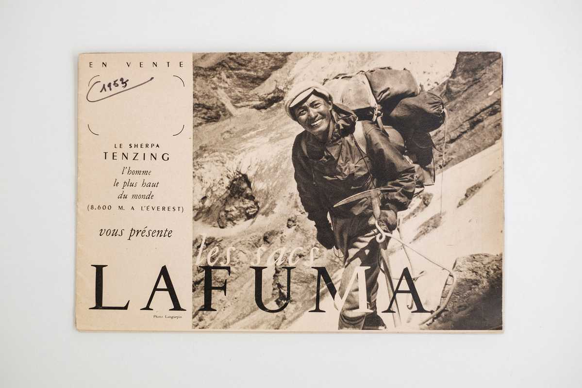 Everest man Tenzing Norgay sporting Lafuma