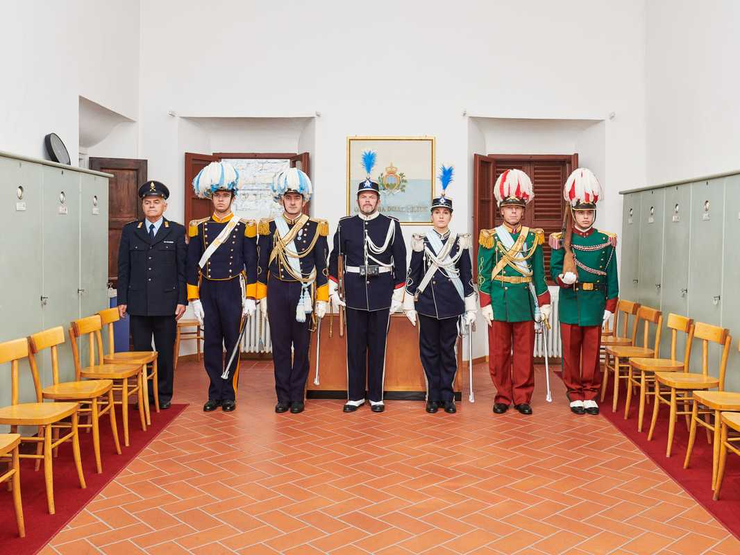 Sammarinese military volunteers, including Guard of the Grand and General Council, Uniformed Militia and Fortress Guard Artillery