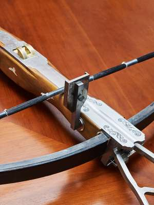 Part of the Crossbow Corps' ornate arsenal