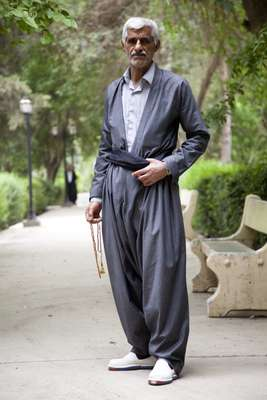 A Kurdish man in traditional dress