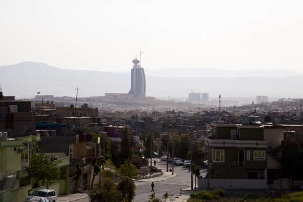 Sulaymaniyah Tower dominates the skyline