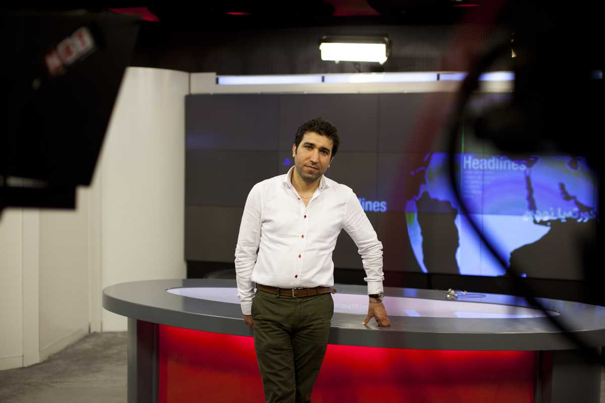 Twana Osman, head of NRT, in the studio