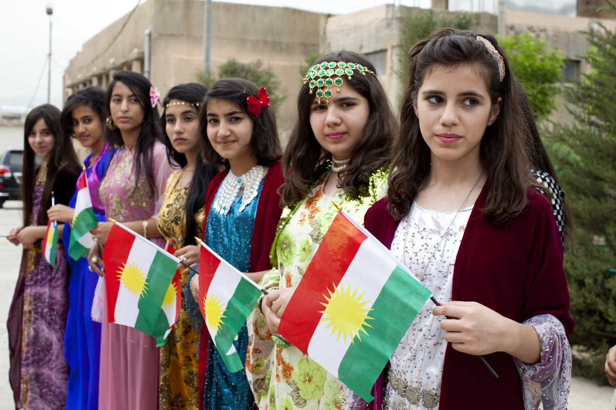 Kurdish students at an environmental festival