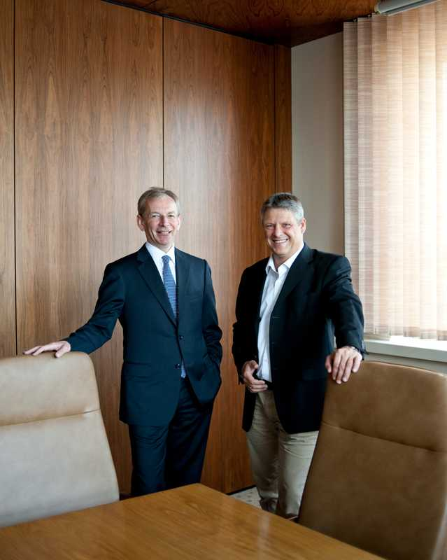 Robert Eckert, managing director (left) and general manager Jörg Prediger