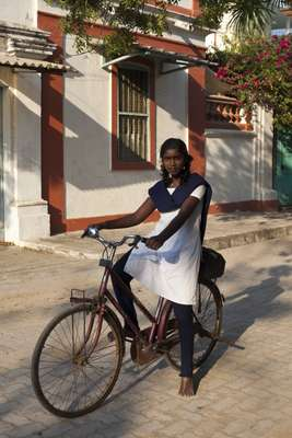 A Pondicherry schoolgirl