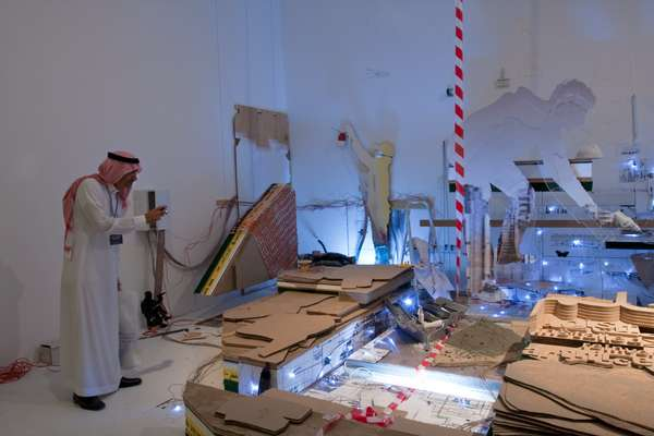 An Emirati snaps Reem Al Ghaith's work in progress