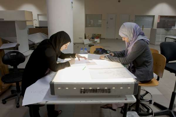 First year design students at the American University of Sharjah