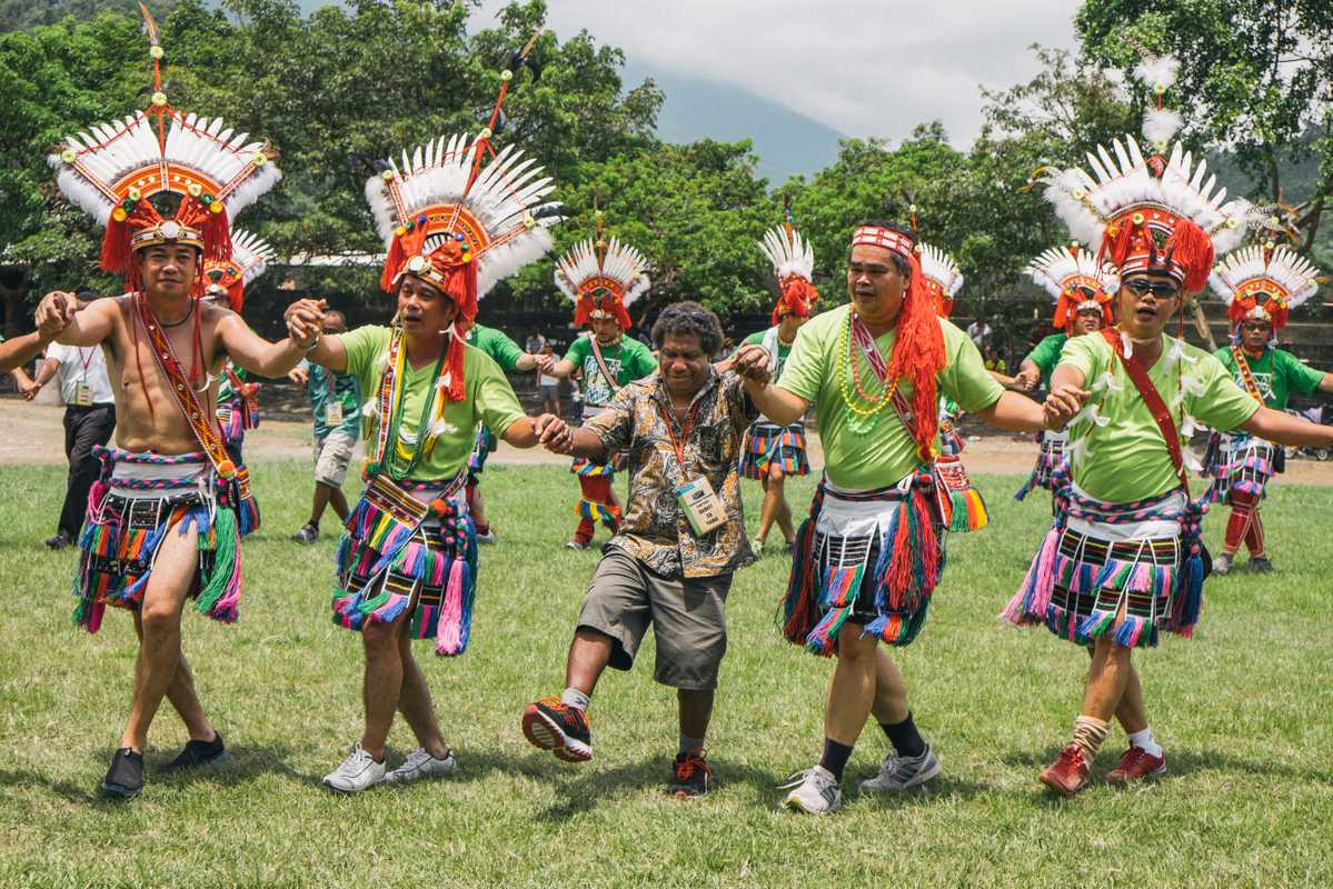 Amis aboriginal tribe at a recent indigenous culture event in Taipei