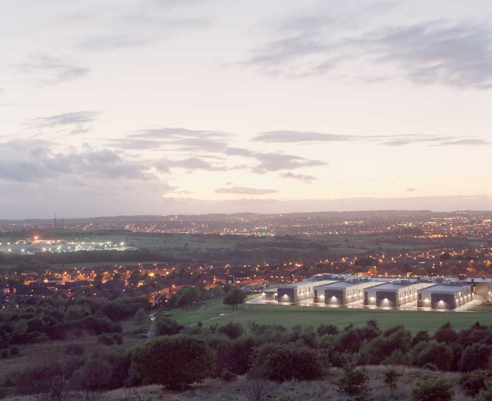 Panoramic view of Stoke-on-Trent