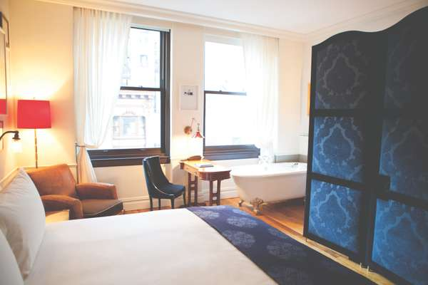 NoMad bedrooms have Jacques Garcia interiors