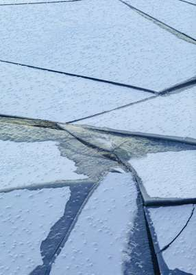 What's the crack? In such extreme temperatures, channels can start freezing back over minutes after they're cut