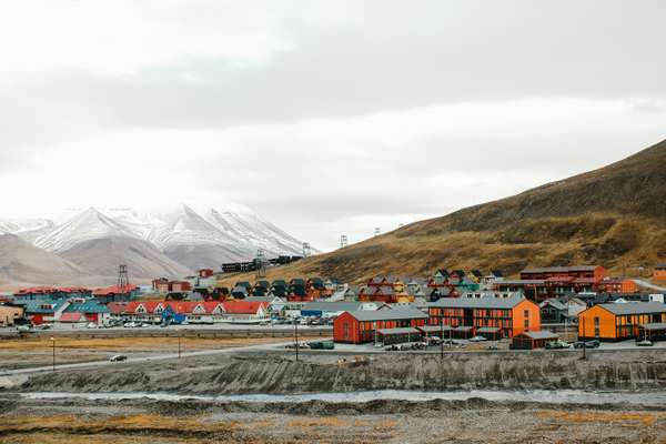 Longyearbyen, the largest settlement in Svalbard