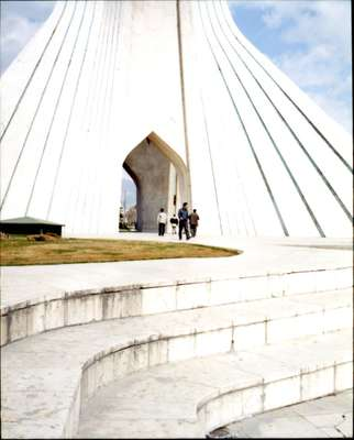 The Azadi Tower in Tehran, built in 1971 to commemorate the 2,500th anniversary of the Persian Empire