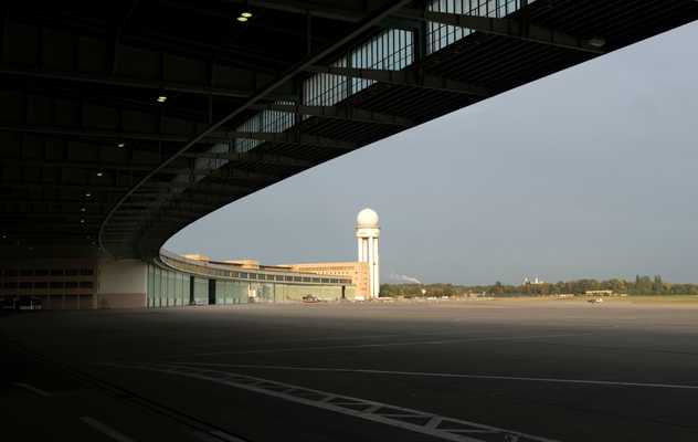 Tempelhof's radar tower in the distance