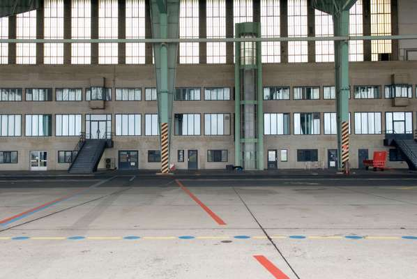 Interior of the hangar