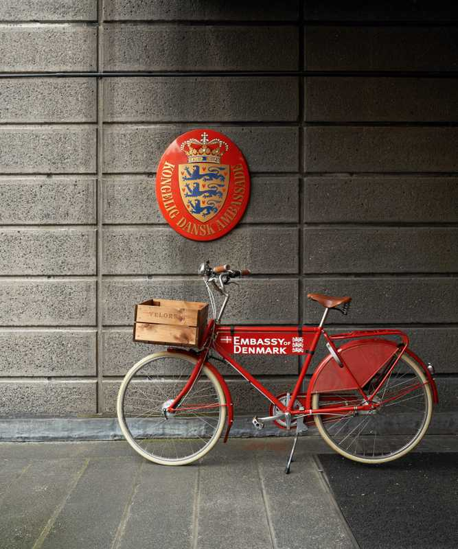 Bicycle at the Hans Street entrance