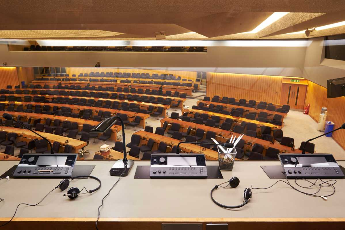 Plenary hall, where the IMO Assembly meets
