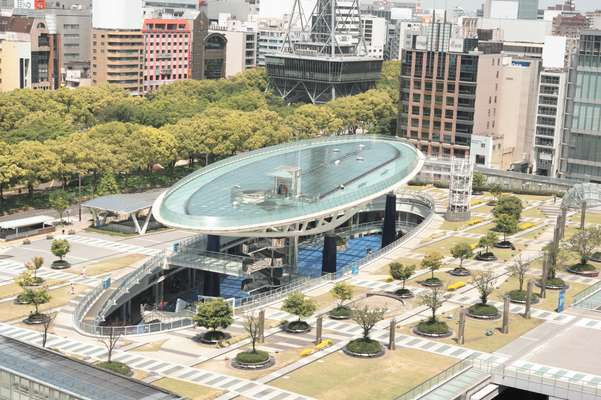 Oasis 21 park in downtown Nagoya
