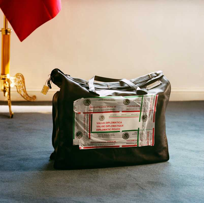 Mexican embassy pouch awaits collection in London