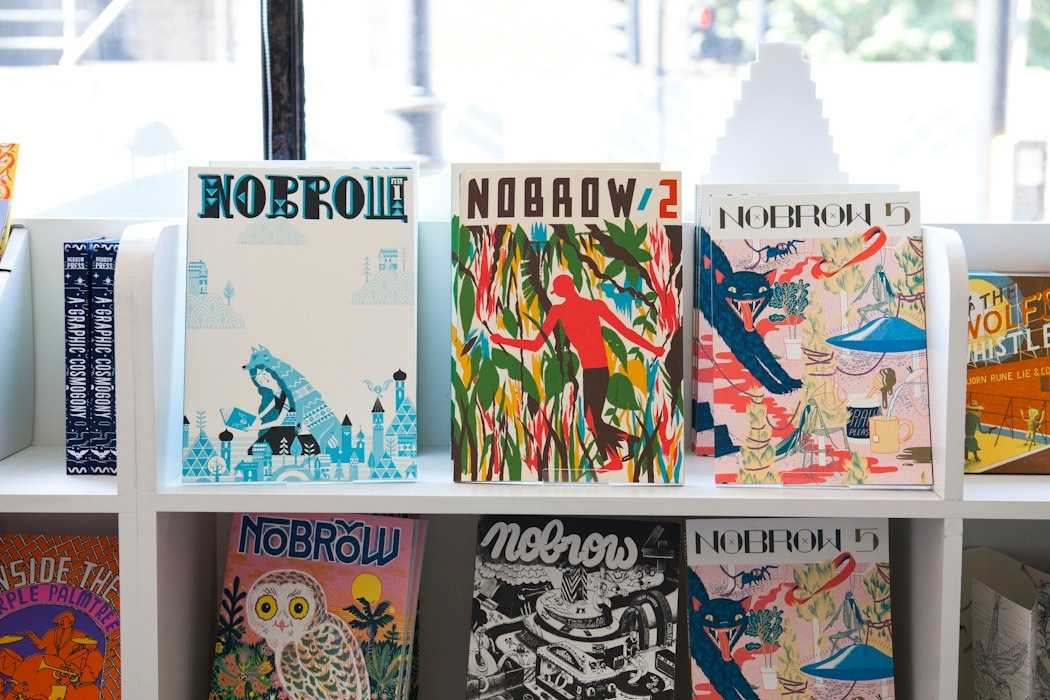 Back issues of Nobrow magazine