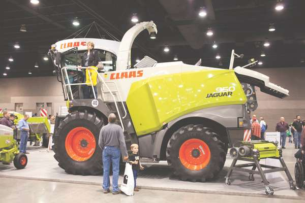 The Claas 950 Forage Harvester