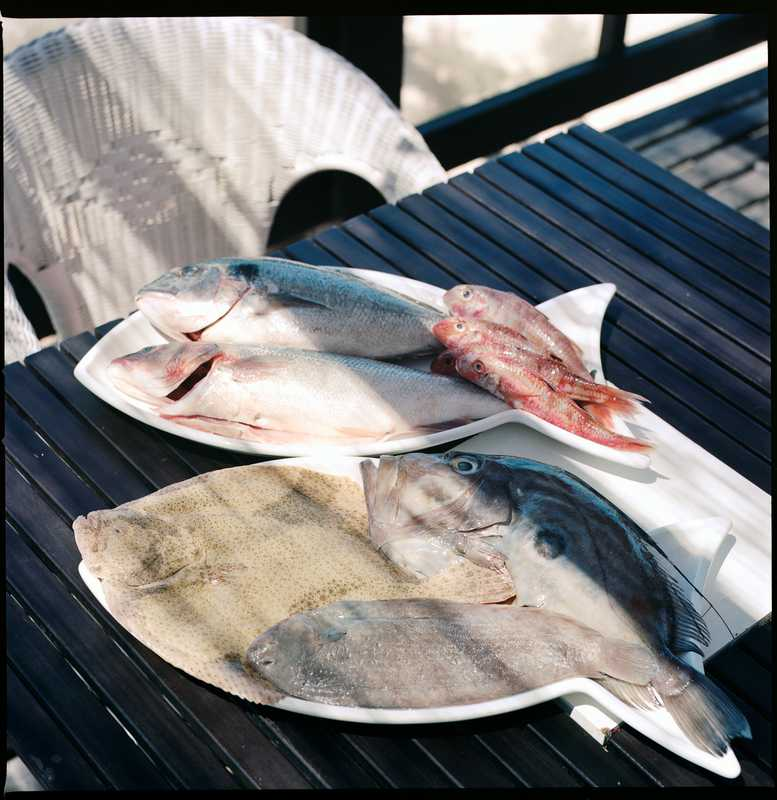 Fresh fish is part of the staple diet
