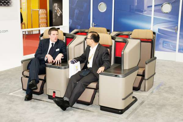 Sitting comfortably in Thompson Aero Seating's Business Class offering