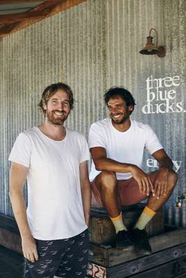 Darren Robertson (left) and Mark LaBrooy, Three Blue Ducks' owners