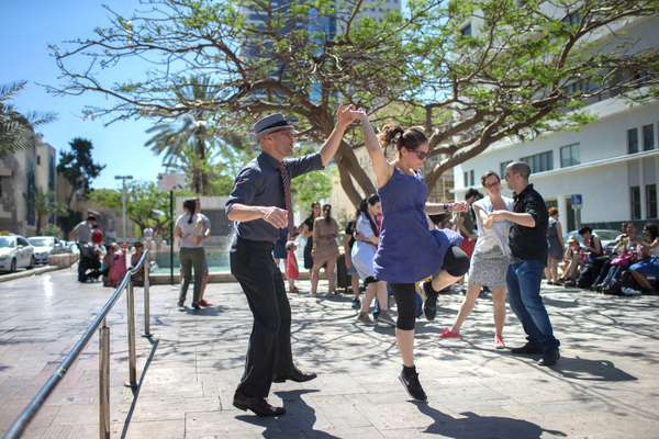 Swing-dance troupe Holy Lindy Land