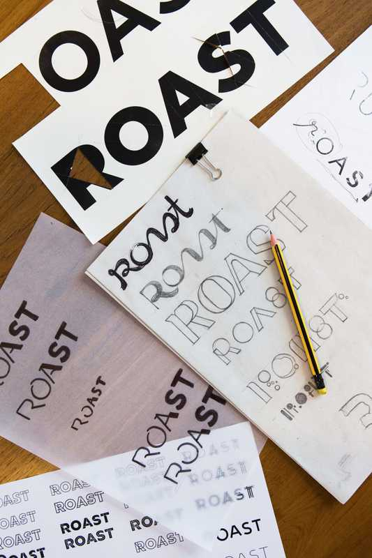 Design sketches for Roast, a Bangkok coffee shop and restaurant