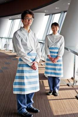 Two of the Skytree café staff