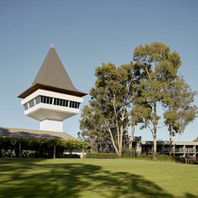 Mitchelton's lookout tower,  designed by Ted Ashton