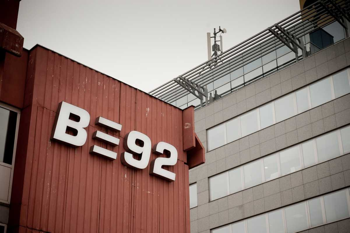 B92 studios in downtown Belgrade