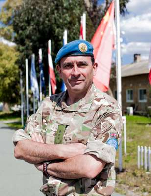 Colonel Angus Loudon of the Royal Irish Regiment