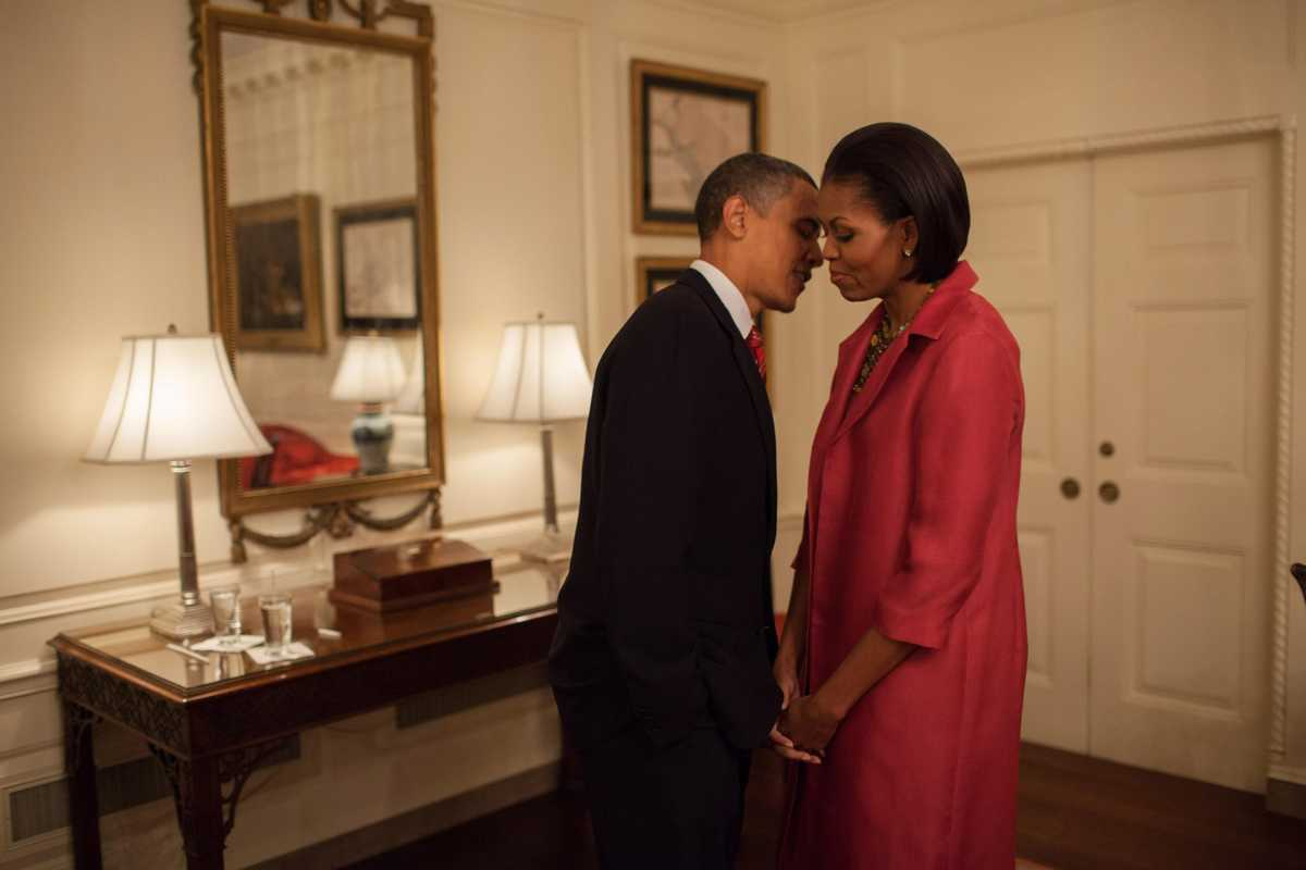 US president Barack Obama and first lady Michelle