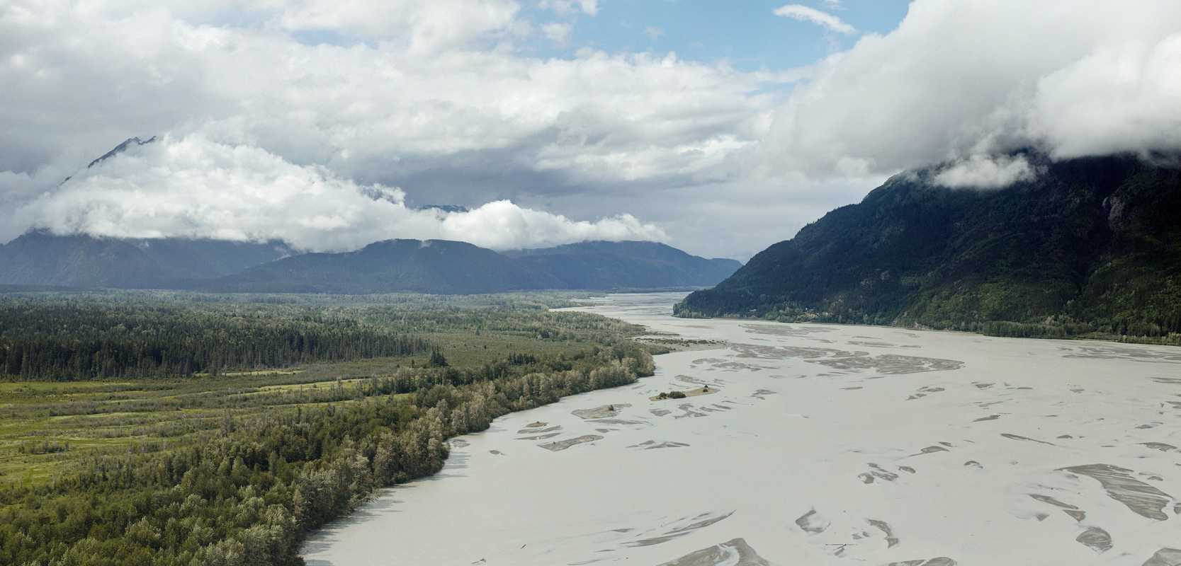 Tidal flats of the Chilkat River